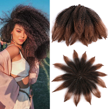 Mtmei Hair 8 Inch Marley Braids Crochet Hair Afro Kinky Synthetic Braiding Hair Extension Marley Twist Hair Black Brown Red Blue cheap Low Temperature Fiber CN(Origin) 14strands pack Ombre 8 inches 40g per pack 7-10 Packs