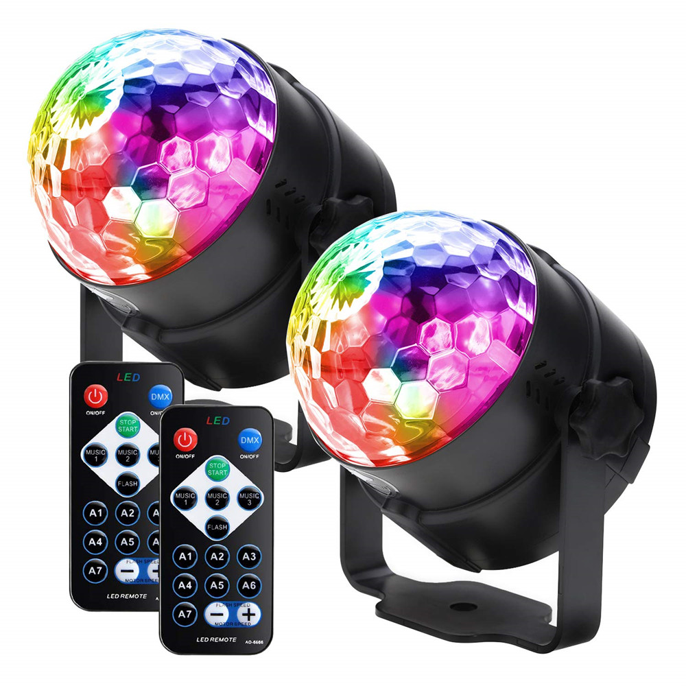 Sound Activated Rotating Led Disco Party Lights Magic Ball Strobe Stage Lights For Home Room Dance Birthday Bar Karaoke Xmas