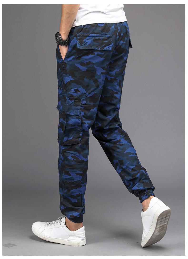 KSTUN Camouflage Casual Pants Men Joggers Men's Trousers Drawstring Sweatpants Male Large Size Blue Military Army Cargo Pants Men Boys 18
