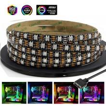 Bande LED lumière numérique RGB 5V adressable ws2812b ws2812 bande pour boîtier de PC carte mère en-tête 3 broches pour ASUS Aura SYNC Light