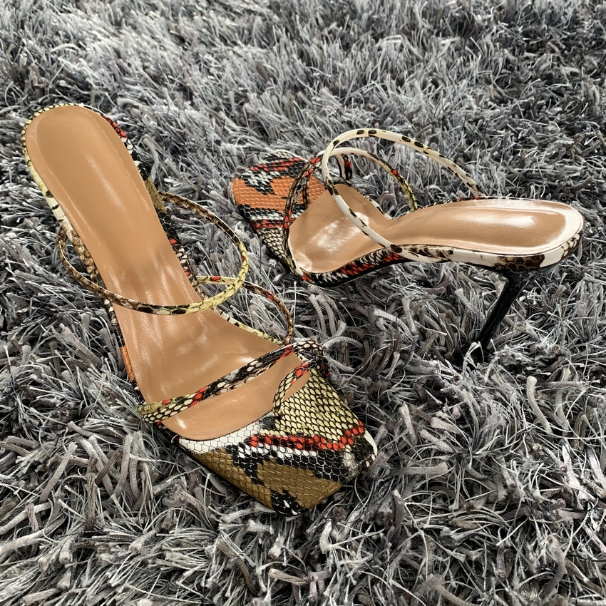 H8887157ac3904818ab3262c158cd32bc1 - Summer Pumps New Sexy Gladiator Sandals Shoes Women Thin High Heels Open Toe Sandal Lady Ankle Strap Pump Shoes Size 35-42