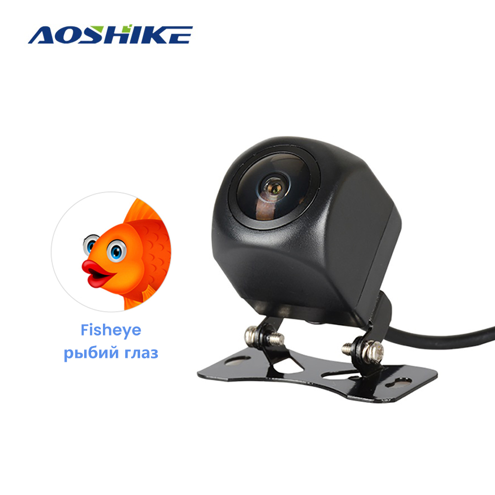 AOSHIKE HD 170 Degree Car Rear View Camera Sony Fish Eye Lens Starlight Night Vision Car Reverse Camera Vehicle Parking Camera