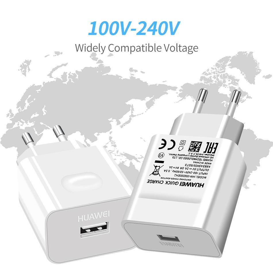 详情6Huawei Genuine Fast Charger 9V 2A QC 2.0 Quick Charge EU Adapter USB C Cable For Mate20lite p9plus honor v9 note8 nove2plus 2 3e