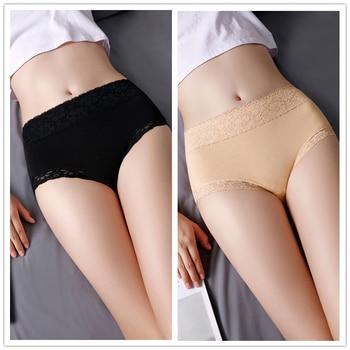 5Pcs/Set High Waist Women Panties Soft Cotton Seamless Sexy Lace Women Comfort Underwear Body Shaper Female Breathable Lingerie 3