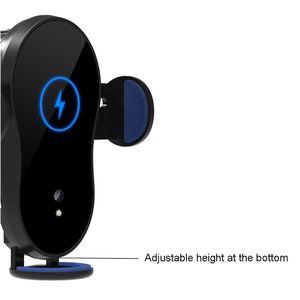 Image 2 - Uniwersalny 15W kubek samochodowy szybka ładowarka bezprzewodowa Qi stojak na podczerwień inteligentny czujnik automatyczne mocowanie uchwyt do montażu na iphone mobilna Ph