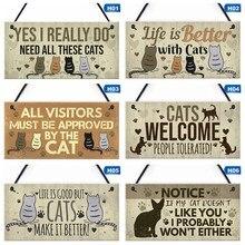 13 видов стилей питомец дружба диета подарок деревянная подвесная Табличка Знак дружбы для любителей кошек