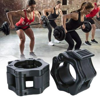 1 Pair 25mm 1Inch Spinlock Collars Barbell Collar Lock Dumbell Clips Clamp Weight lifting Bar Gym Dumbbell Fitness Body Building