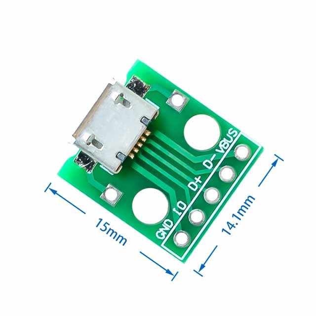 Micro USB Để Chấm Nữ B Loại Micro 5 P SMD Đến Thẳng Cắm Ốp Có Hàn Đầu Nữ