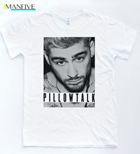 Zayn Pillowtalk T-shirt One Malik Direction Music Gigi Hadid Tee Jonas Top MenS High Quality Custom Printed Tops Hipster Tees