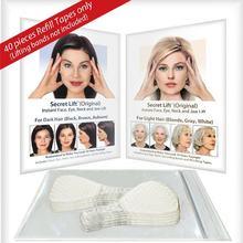 40 pçs/set Invisível Fina Rosto Facial Adesivos Linha de Rugas Da Pele Flácida V-Forma Face Lift Facial Scotch Fita Para O Rosto