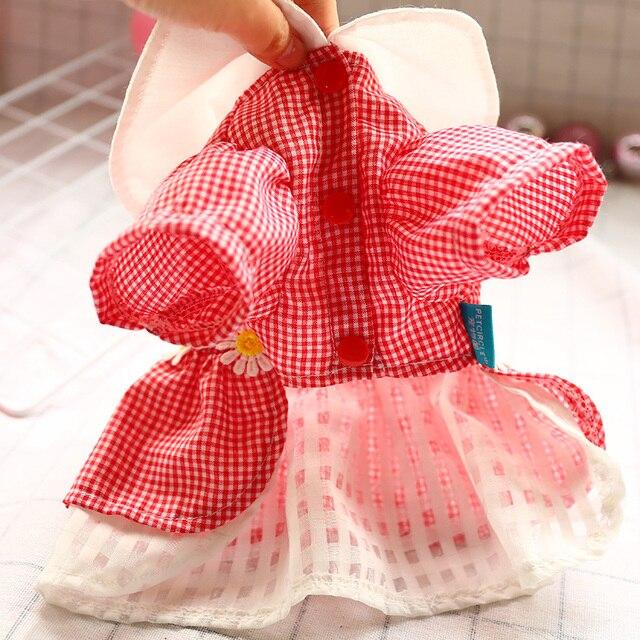 Фото ошейник для кукол милое платье собаки маленькая маргаритка с