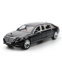 1/24 Mercedes Maybach Model Car Diecast Metal Models High Simulation Vehicle Toy With Light Music Can Be Opened Gifts