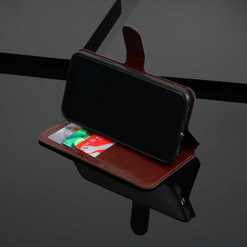 محفظة حافظة لهاتف Moto X4 C G6 G5S E4 E5 Z2 G4 Plus G3 G2 Z3 Z2 Z Force Play M Plus X2 PU بظهر جلدي Coque وردي أزرق أسود بني