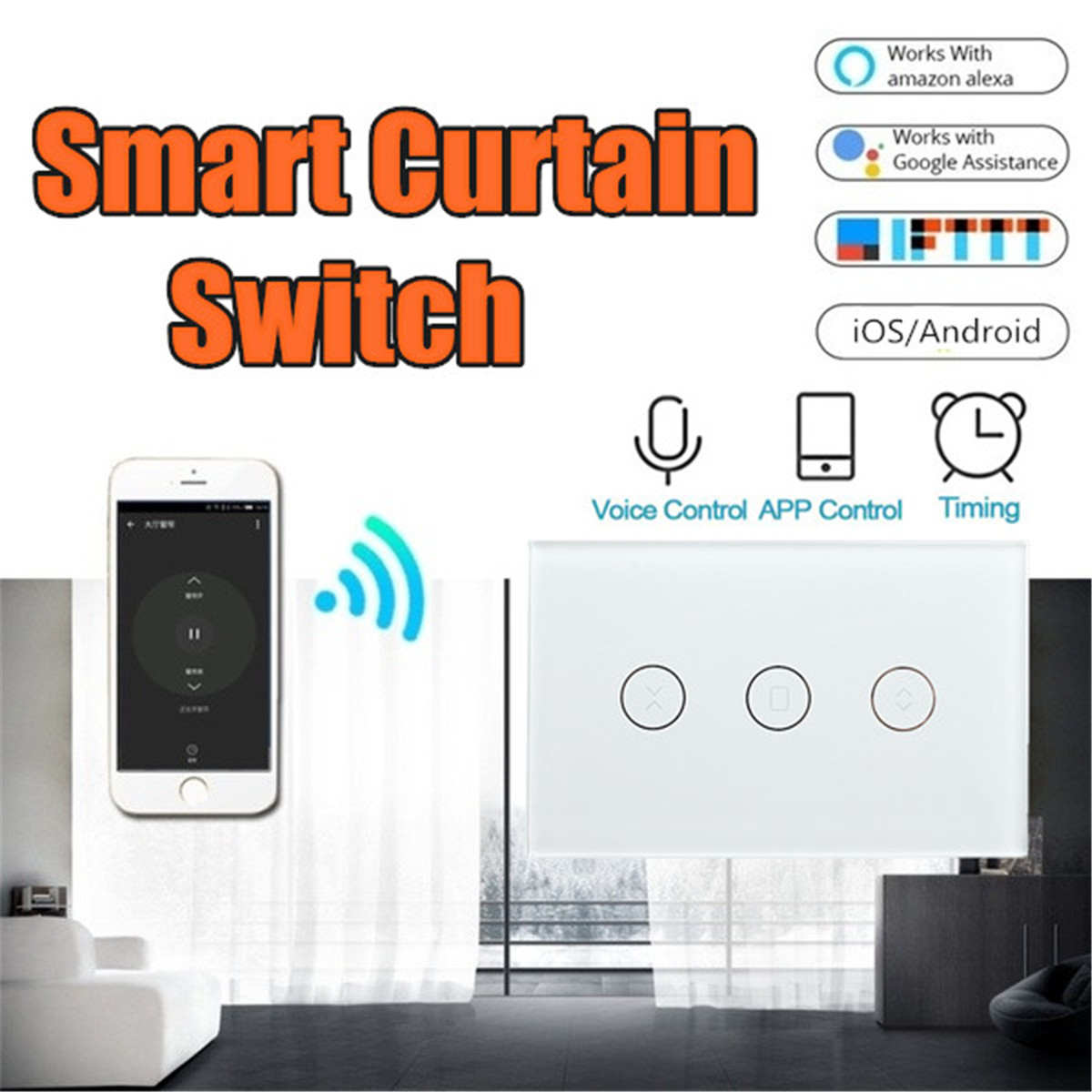Tuya Smart Life EU WiFi Roller Shutter Curtain Switch For Electric Motorized Blinds With Remote Control Google Home Aelxa
