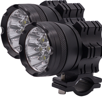 1Pair 180W 6500K 7800 LM Aluminum Alloy 9 LEDs Motorcycle headlights Motos Bulb Fog Spotlight Super bright With Wire harness