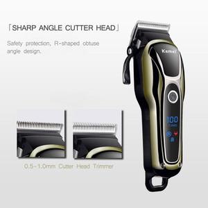 Image 5 - Recarregável Aparador de Pêlos dos homens máquina de Cortar Cabelo Profissional Cabelo Máquina de Barbear Barba Navalha de Corte De Cabelo Elétrico 100 240V 38D