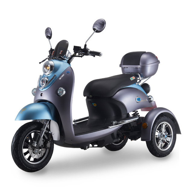 Adult Vespa Tricycle Fat Tire Electric citycoco Scooter With Seat Kcq Electric Scooter Electric 3 Wheels Motorcycle Road 2021 2