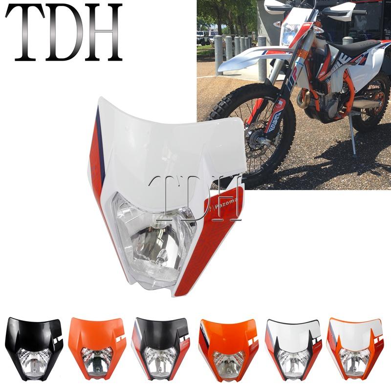 Motocross Headlight Enduro Front Running Light for 2012-2019 KTM XC-W 150 EXC-F 250 XC-F EXC-F 300 350 450 500 TPI Six Days