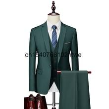 New men's suit business casual suit photo bridegroom's three piece suit