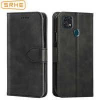 SRHE Cover For ZTE Blade 20 Smart Case Flip Leather Silicone Magnet Wallet On Case For ZTE Blade 20 Smart 2019 V1050 Cover
