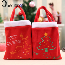 Obedience Christmas gift bags Candy Apple decorations