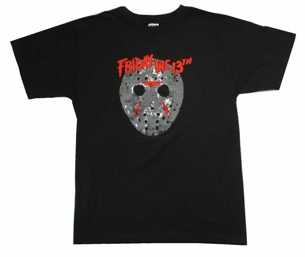 Friday the 13th Classic Mask Jason Black T Shirt New Horror Slasher Movie Hip Hop Clothing Cotton Short Sleeve T Shirt top tee image