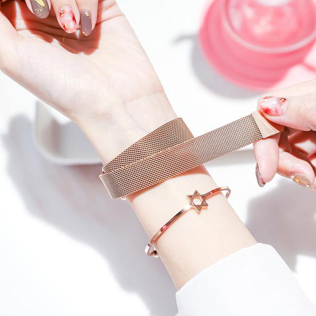 Women Watches Magnetic Female Clock Quartz Wristwatch Fashion