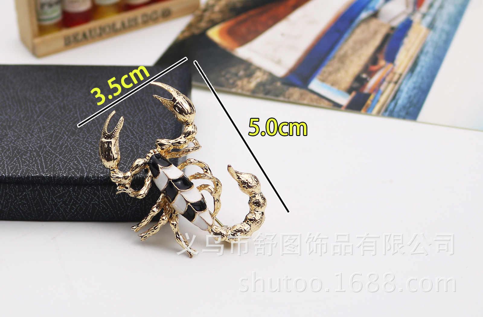 แฟชั่นทองเงินเคลือบแมงป่องเข็มกลัดบุคลิกภาพอารมณ์ Corsage Lapel PIN ชายเสื้อผ้าอุปกรณ์เสริมของขวัญ