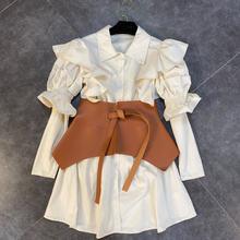 Женское винтажное платье рубашка комплект из двух предметов