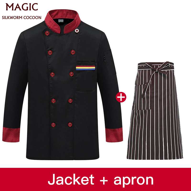 Autumn Winter Long Sleeve Chefs Uniform Five Stars Hotel Chef Master Jacket Men Women Western Restaurant Executive Chef Clothes
