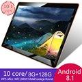 10-дюймовый планшет с 10 1-дюймовым дисплеем  ОЗУ 8 Гб  ПЗУ 128 ГБ  Android 8 1  3G LTE  4G LTE