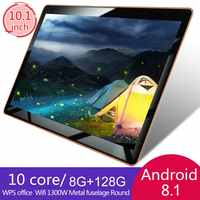 2019 10 pouces tablette PC 3G 4G LTE Android 8.1 10 Core métal tablettes 8GB RAM 128GB ROM WiFi GPS 10.1 tablette IPS WPS CP9