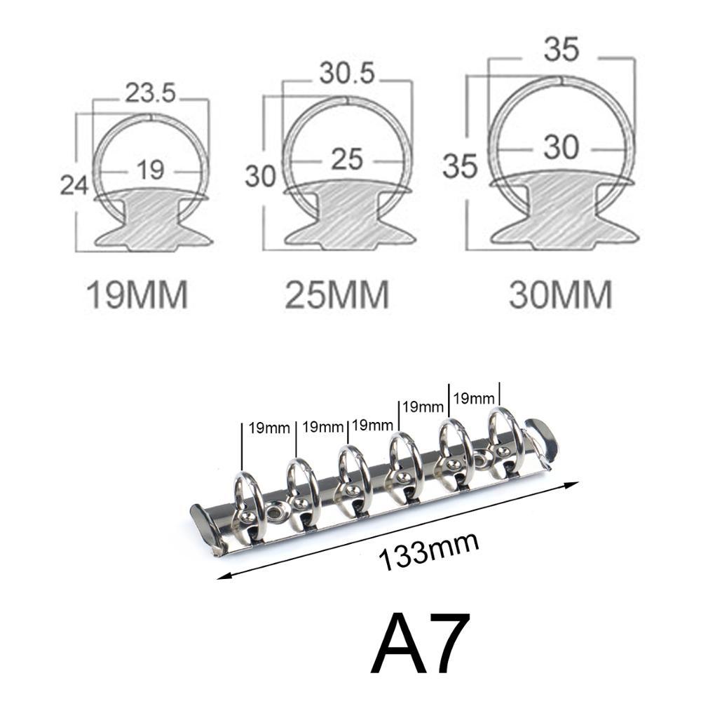 A7 Размеры металлическая спирально связующее кольцо клип с наборами по 2 пары винтов для дневника Тетрадь планировщик зажим для бумаги папка...