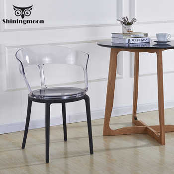 PC Clear Chair Plastic Dining Chairs Restaurant Suitable for Modern Office Home Bedroom Single Person Design Chair furniture - DISCOUNT ITEM  20% OFF All Category