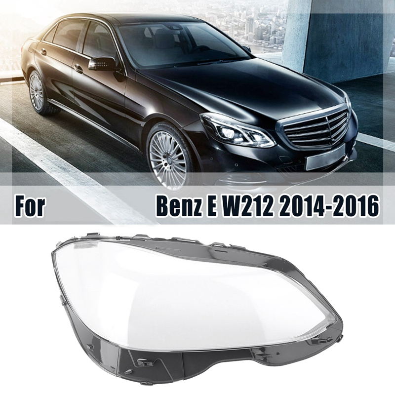 Headlight Lens Clear Lens Auto Shell Cover For Mercedes-Benz W212 2014-2015