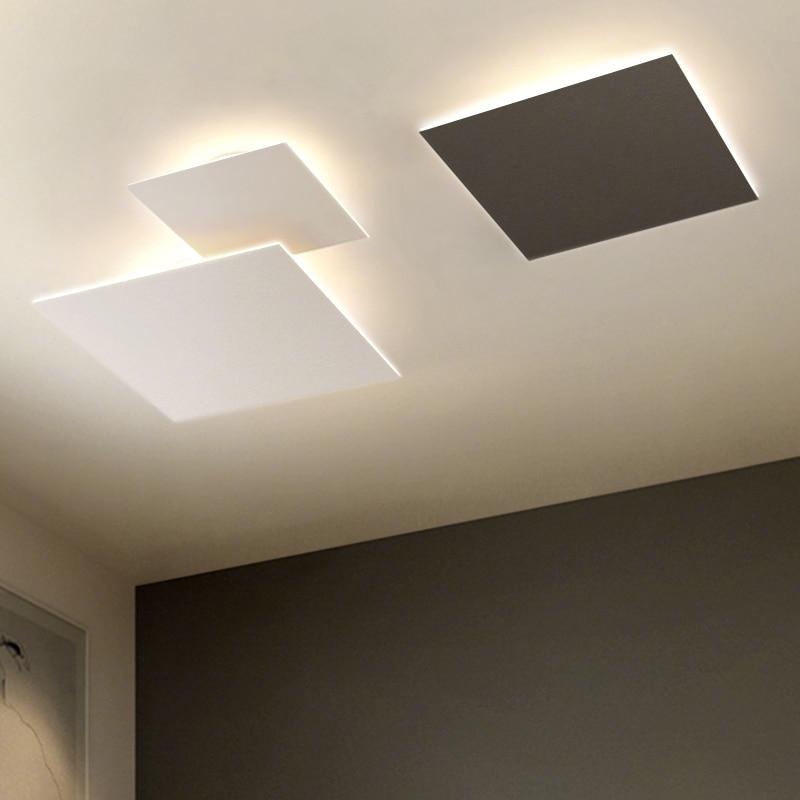 Plafoniere moderne a LED per sala studio camera da letto apparecchio da interno quadrato minimalista lampada da soffitto apparecchio decorativo per la casa