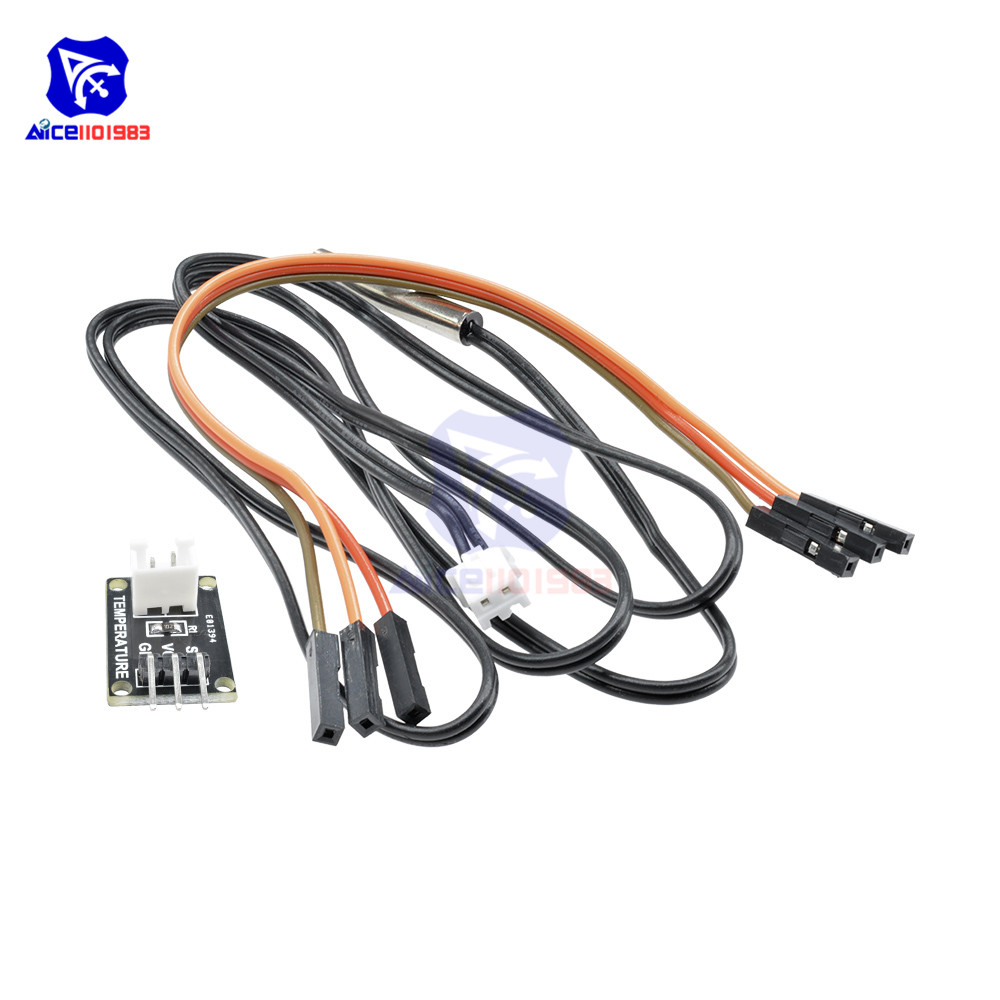 diymore High Precision 1M NTC <font><b>10K</b></font> <font><b>Thermistor</b></font> Temperature Probe <font><b>Sensor</b></font> Module 3 Pin Dupont Line Wire for Arduino image
