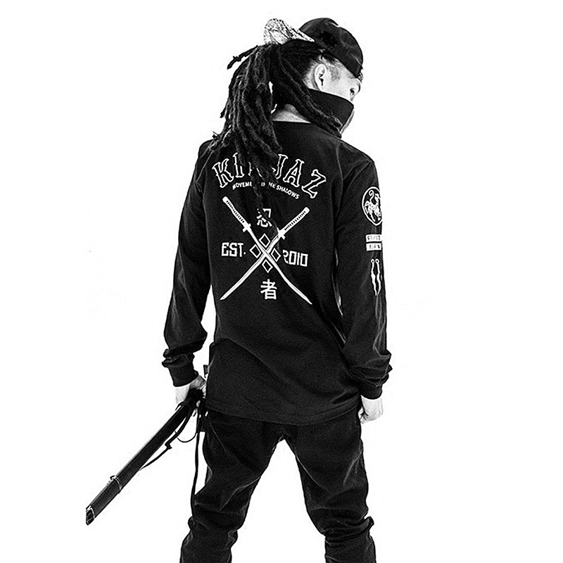 This That Is Hip Hop 2 Kinjaz Team Jawn Ha What Generating Celebrity Style Ninja Long-sleeved Sweater Autumn New Style