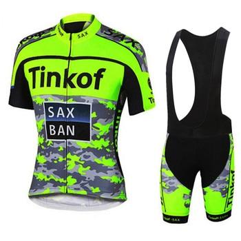 2018 camiseta de ciclismo Tinkoff estilo de los hombres de manga corta...