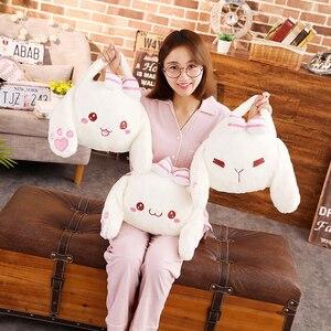 Japón mujeres suave Anime conejito bolso Mini dibujos animados niñas lindo Lop oreja conejo mensajero hombro Pack para niños regalo de cumpleaños