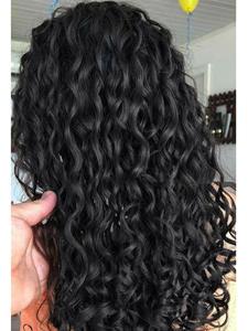 FAVE Lace Wigs Closure Water-Wave-Wig Human-Hair Free-Part Glueless Black-Women Brazilian