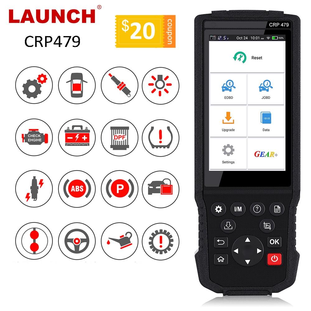 LAUNCH X431 CRP479 OBD2 сканер JOBD Авто сканер ABS TPMS DPF IMMO ключ EPB сброс масла автомобильный диагностический инструмент OBD2 LAUNCH X431 WIFI|Считыватели кодов и сканеры|   | АлиЭкспресс