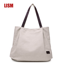 High Quality Four Seasons Wild Ladies Canvas Handbag Korean Casual Large Capacity Bag Luxury Bags Fashion Exquisite