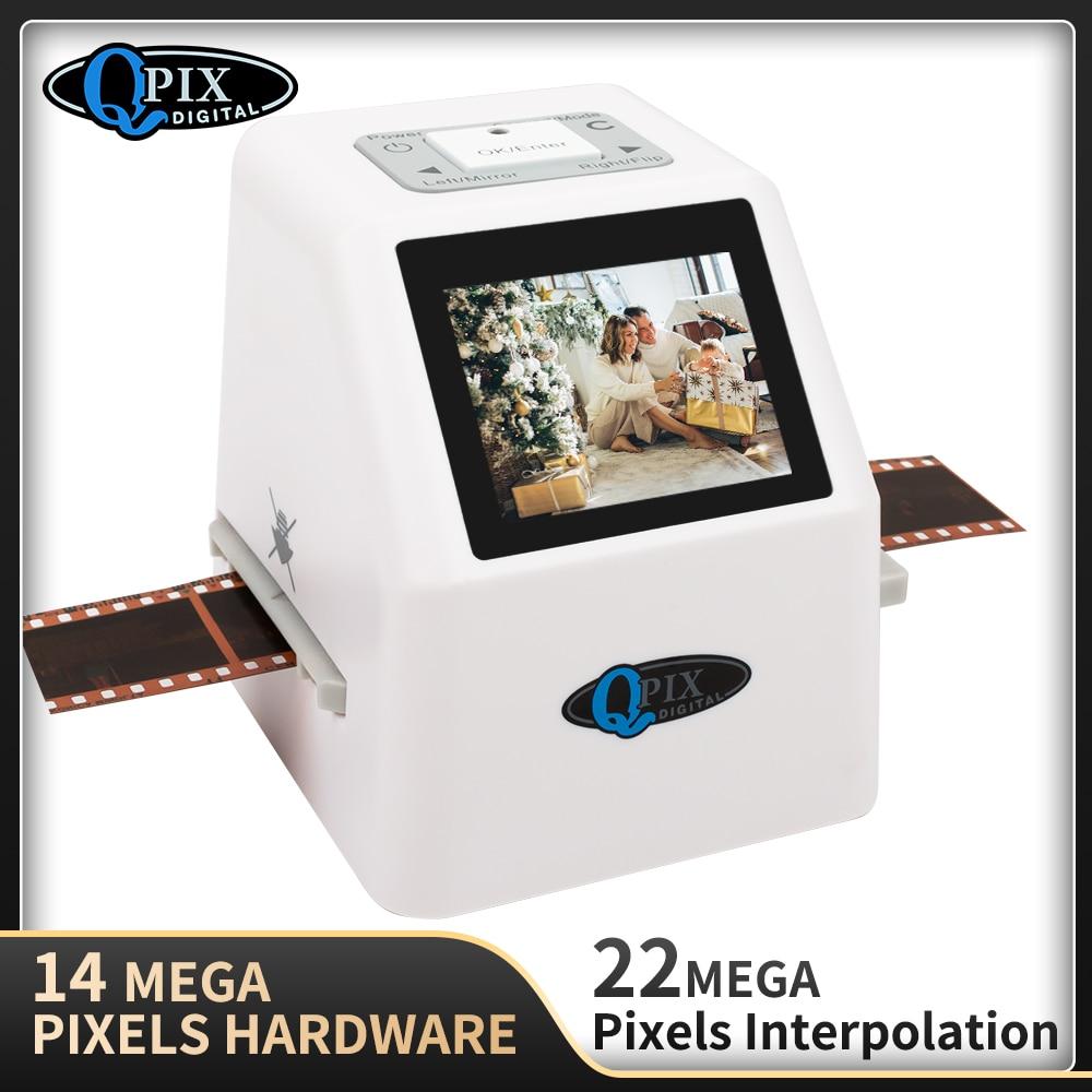 Converter Scanner Slide-Film 35mm Super-8 LCD 110 135-126kpk 22-Mp High-Resolution