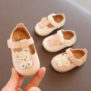 Кожаные сандалии для маленьких девочек; Цвет розовый, бежевый; Обувь для маленьких девочек 1 года; Дышащая Летняя обувь с вырезами для малень...