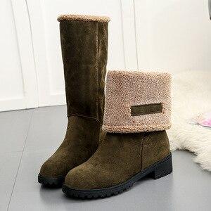 Image 5 - SWYIVY Bò Da Lộn Nêm Nữ Mùa Đông Giày Nữ Sang Trọng Ngắn 2019 Ấm Ủng Giày Bốt Nữ Đen Giày Người Phụ Nữ Cao Su boot