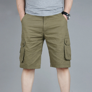 Image 3 - Cargo Shorts Men Summer Casual Mulit Pocket Shorts 2020 Men Joggers Shorts Trousers Men Breathable Big Tall 42 44 46 Large Size
