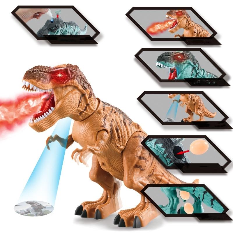 Amazing Spray Electric Dinosaur Toy Walking Spray LED Light Up Sound Dinosaur Toy Dinosaur Model Boy Birthday Christmas