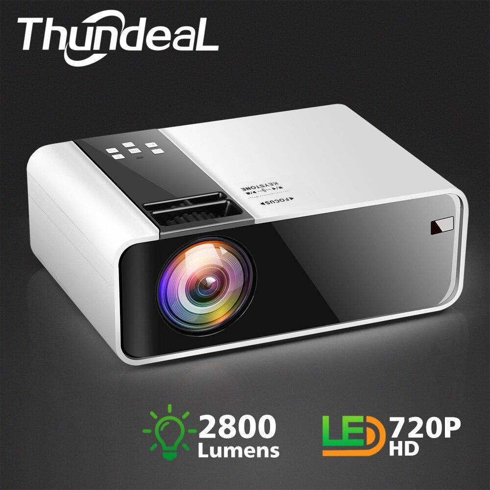 TD90 ThundeaL HD Mini Projetor Nativo 1280x720 P HDMI Filme LEVOU Wi-fi Android Projetor de Vídeo Home Cinema 3D jogo Proyector
