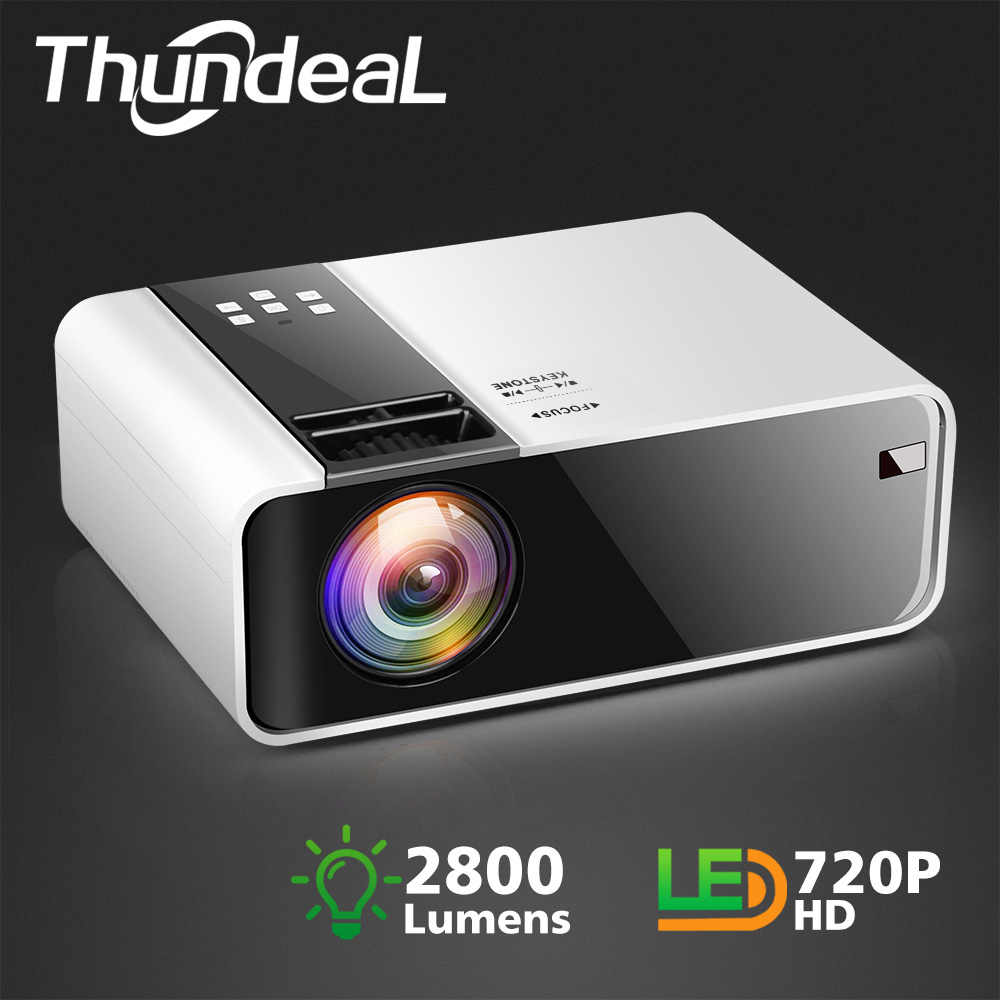 ThundeaL HD Mini proyector TD90 nativa de 1280x720 P LED Android WiFi proyector Video casa cine 3D HDMI película juego Proyector